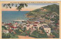(W)  Santa Catalina Island, CA - Avalon Bay and Waterfront Area