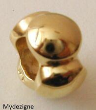 GENUINE SERENITY  9K  9ct  SOLID YELLOW  GOLD  CHARM  BEADED  BEAD