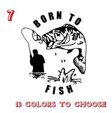 Bass Fishing Vinyl Stickers decals,car,window,van, Laptop (REF NO 7)