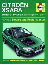 HAYNES MANUAL CITERON XSARA 97-SEPT 2000 R TO W REG PETROL AND DIESEL