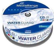 CD-R 700MB/80min 52x waterguard photo jet d'encre fullprintable 25 pcs