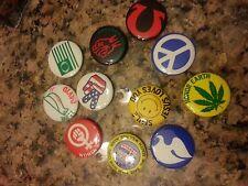 Hippy Hippie Pins Pinbacks Buttons Authentic Vintage Peace
