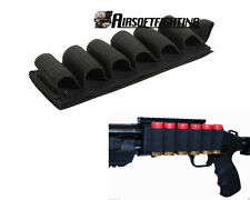 Tactical 6 Round Shell 12Gauge Shotgun Ammo Carrier Holder Gun Buttstock Pouch