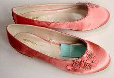 Monsoon Mädchen Schuhe Party Pumps Coral Pink Weddingflats Größe Eu 8 12 13
