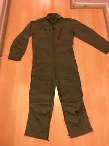 VINTAGE ARMY SURPLUS PILOT JUMPSUIT ALL IN ONE  COTTON MILITARIA CLOTHING Size S