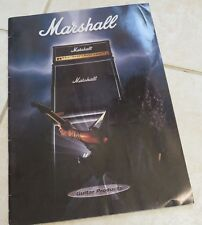 1995 Marshall Amplification CATALOG full color 31 pages Amps Cabs