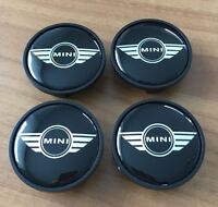 4 MINI Embleme Nabenkappen Nabendeckel Felgendeckel Wings Edition ORIGINAL NEU