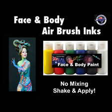 Airbrush Face Paint 6 x 60ml Face Paint Airbrushing Ink Primary Set Airbrush ink