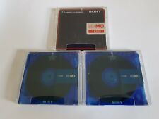 3x Sony 1GB Hi-MD MiniDisc Discs Excellent Condition