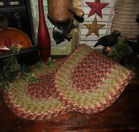 """Primitive Natural Cotton Braided 36"""" TABLE RUNNER Trivet/Placemat Oval #81"""