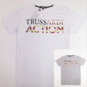 T-Shirt uomo TRUSSARDI ACTION Manica Corta Cotone Marchio Grande 32213