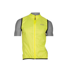 NEW NORTHWAVE SID LIGHTWEIGHT PACKABLE WINDPROOF CYCLING GILET - YELLOW FLUO