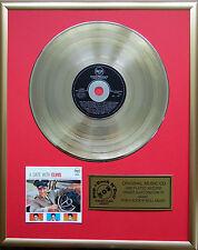 """Elvis Presley a date with CD/Cover gerahmt +12""""Deko goldene Vinyl Schallplatte"""