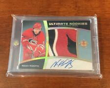 NOAH HANIFIN 2015-16 Upper Deck Ultimate Rookies Patch Auto 6/10! Sick Patch!!!