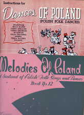 2 Polish Sheet music- Dances of Poland & Melodies of Poland - 2 items, one price