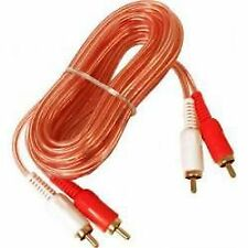 5M OFC RCA to RCA Cable Car Lead 5 Metre Clear Car Stereo Amp Phono GOOD QUALITY