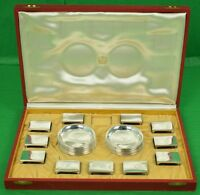 Cartier Sterling Silver Set of 12 Coasters/Ashtrays & 11 Matchbook Holders