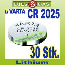 30 Stk. Varta CR 2025 Knopfzelle Knopfbatterie lose