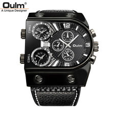 Men's Watches Quartz Casual Leather Strap Wristwatch Sports Men Watch Military
