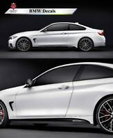 BMW 4 3 SERIES COUPE M Performance Side skirt sills stickers Decals Vinyl