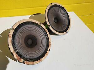 2 Goodmans FULL range speakers 5 OHM 1961 ALNICO