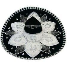 New Luxury Genuine Mexican Sombrero Hat Wild Western Bandit Fancy Dress Costume