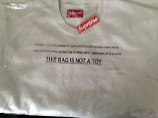 Supreme Embroidered Overdyed Crewneck Off White Large