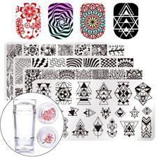Kit De Estampado Plantillas Para Diseño Arte De Uñas Manicura Profesional