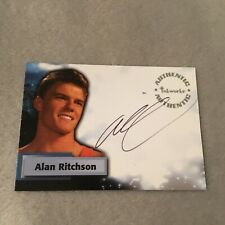 Alan Ritchson Signed Smallville Authentic Autograph Card Inkworks Rare A37