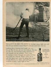 1967 JACK DANIELS WHISKEY PRINT AD CAN'T BLAME THE BOYS FOR HAVING A WATER FIGHT
