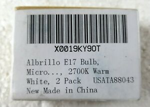 Albrillo E17 Bulb Microwave Oven Appliance Light Bulb 4W - Pack of 2