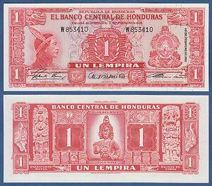 HONDURAS  1 Lempira  1961  UNC  P. 54A a