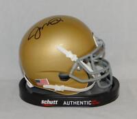 Joe Montana Autographed Notre Dame Schutt Mini Helmet - JSA W Auth *Black
