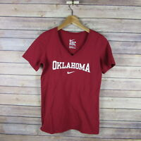 OKLAHOMA SOONERS Women's The Nike Tee Athletic Cut Shirt S Small
