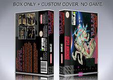 SUPER R TYPE. NTSC FORMAT. Box/Case. Super Nintendo. BOX + COVER. (NO GAME).