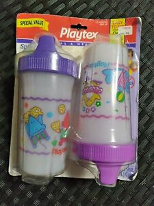 Vintage 1997 1999 Playtex 9oz Spill Proof Color Cup 2pk