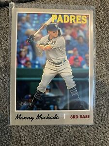 2019 Topps Heritage Action Variation #520 Manny Machado Padres