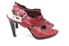 Womens Red Shoes Bandolino Zylonna High Heel Platform Red Reptile Finish 9.5M