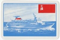 Playing Cards 1 Single Card Old BLACK SEA SHIPPING Line Advertising BELORUSSIYA