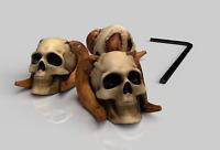 Xentric Guitars - SINISTER SKULLS Demon Skull 6mm Dome Knob (SET OF 3)