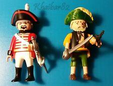 Playmobil - soldado inglés y pirata de verde. Con armas (Descatalogados)