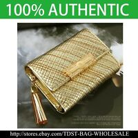 [OMNIA]Crystal Ladies Wallet Genuine Leather Trifold Purse ID Card Coins Bag316S
