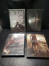 The Texas Chainsaw Massacre Horror Lot of 4 dvd leatherface