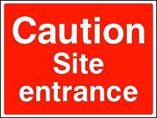 Caution Site Entrance Site Safety Rigid Sign 600 x 400mm C8CD