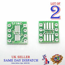 2x PCB SO MSOP TSSOP SIO6 SOP8 to DIP-8 1.27 / 0.65mm Adapter SMD Converter