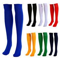 FT- Football Plain Long Sock Sport Knee High Large Hockey Soccer Rugby Stocks No