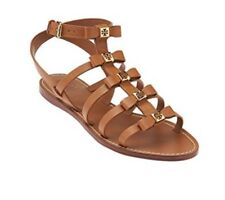 e6df10bdbd717 Tory Burch Shoes Kira Veg Leather Sandals Flat Thong Flip Flops Royal Tan 7m