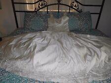 Mori Lee by Madeline Gardner Bridal Gown in Ecru Lovely Beadwork Sz 16 Not Worn