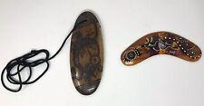 "Aboriginal 6"" Wooden Boomerang Handmade Australia & Pendant From Australia NWOT"