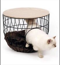 51 Degrees North Cat Bed Wire Basket Black